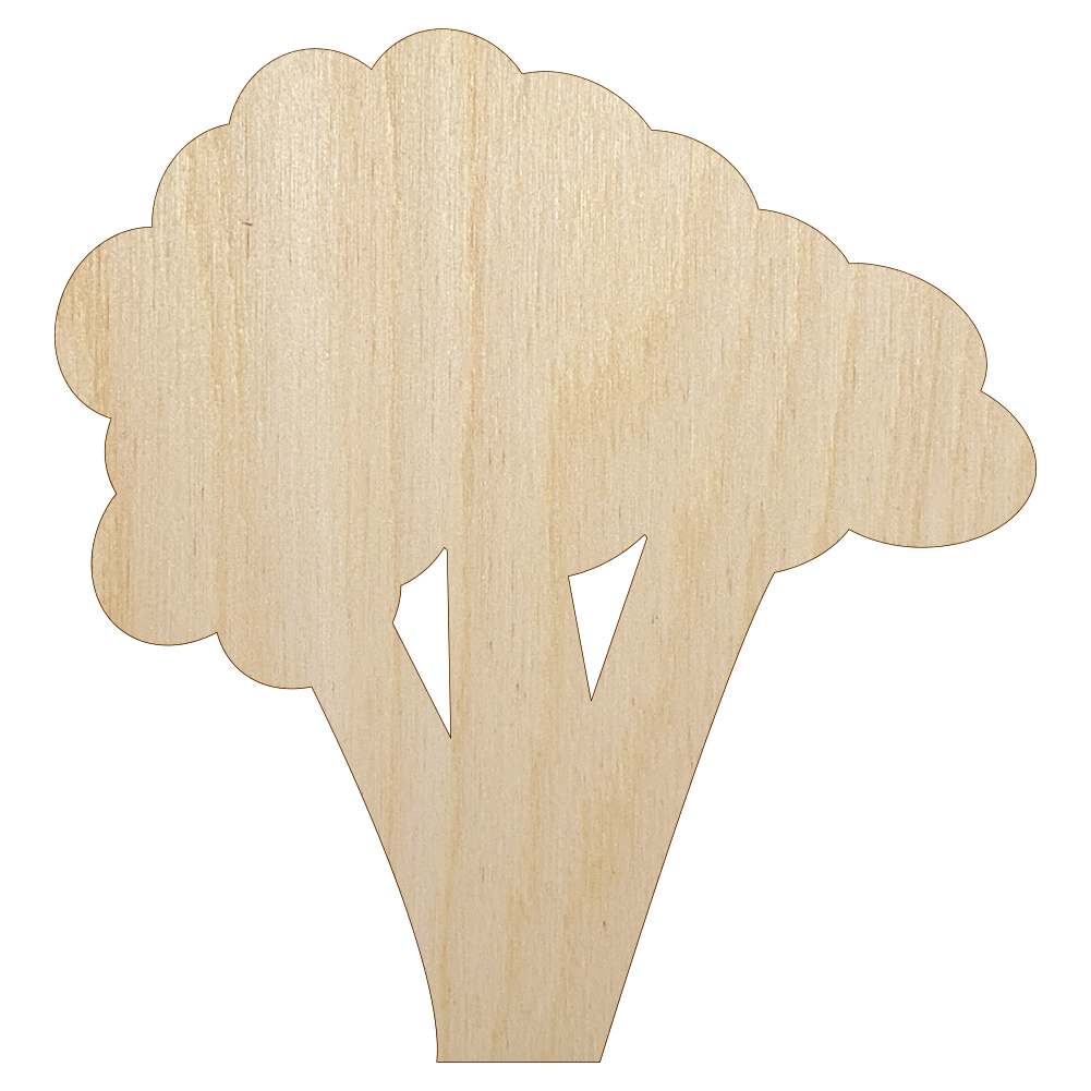 Broccoli Unfinished Wood Shape Cutout Variety Sizes USA Made Kitchen Decor Vegetable Theme Garden Theme