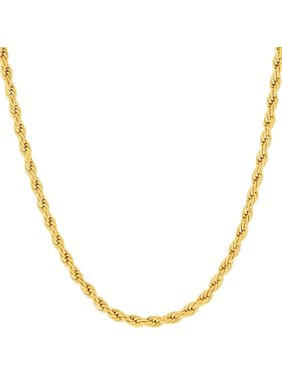 Jewelers 14K Solid Gold 3M Rope Chain Necklace BOXED
