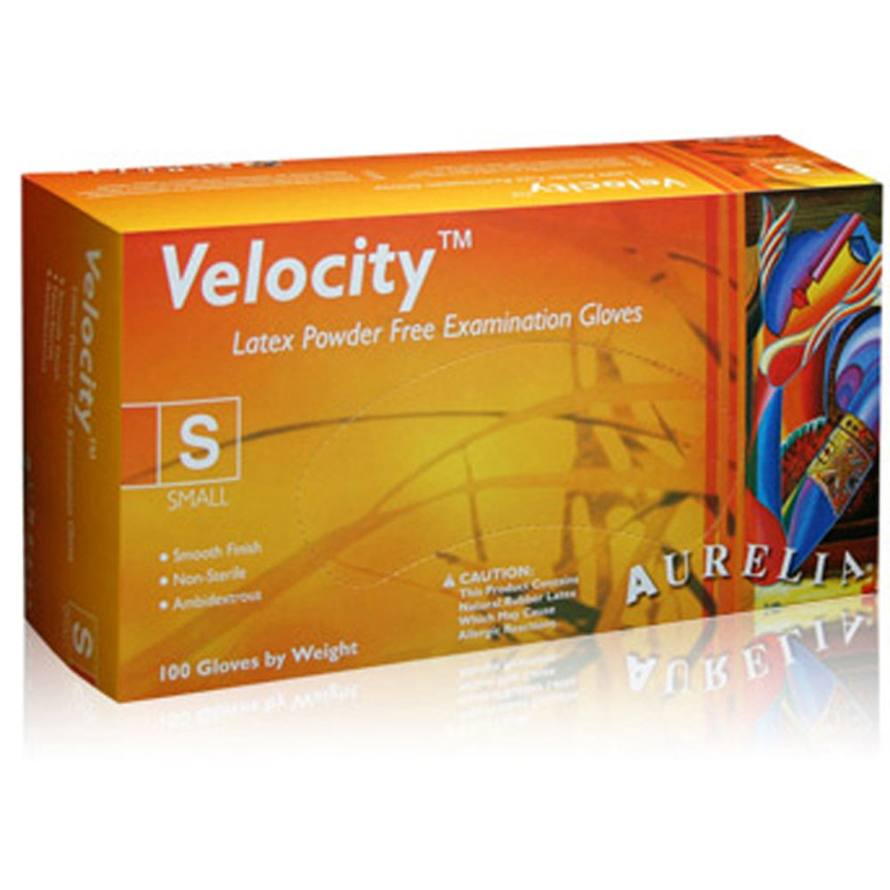 Aurelia Velocity Powder Free Latex Exam Gloves-1000/Case