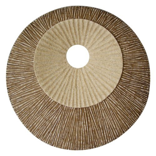 Round Ribbed Plaque Wall Art - Set of 2