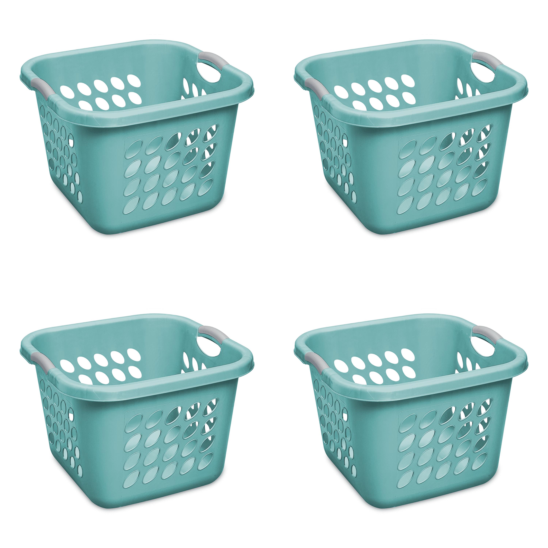 Sterilite 1.5 Bushel/53 L Ultra™ Square Laundry Basket, Teal Splash