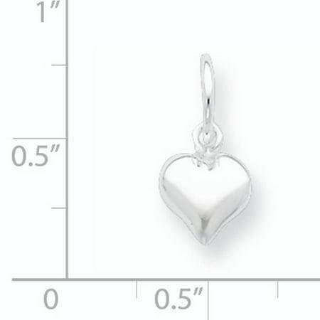 Sterling Silver Puff Heart Charm QC6722 (18mm x 10mm) - image 1 de 3