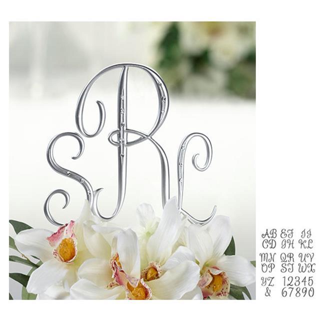 Silver Rhinestone Monogram, Sml A