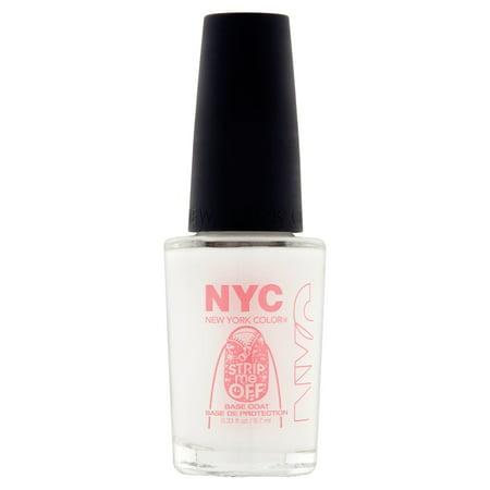 Nyc New York Color Strip Me Off Base Coat  0 33 Fl Oz