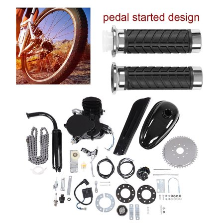 EECOO Motorized Bike Engine Kit, Motorized Bike Motor Kit,80CC Bicycle  Engine Kit 2 Stroke Gas Motorized Bike Motor DIY Set with Tools