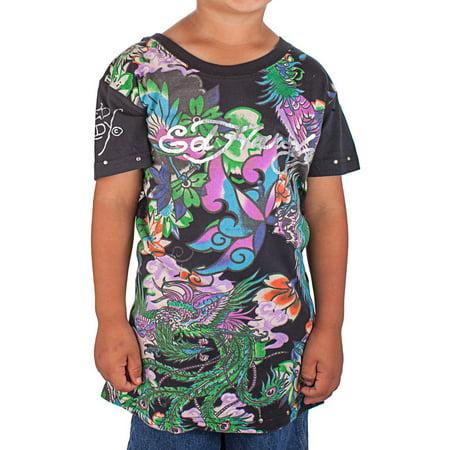 Ed Hardy Toddlers Koi T-Shirt - Happy Koi