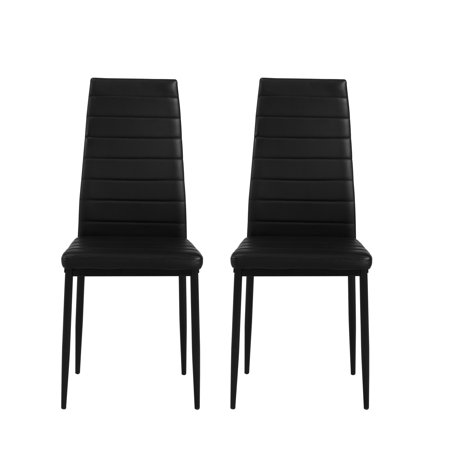 Amazing Dwell Home Inc Parson Faux Leather Upholstered Dining Chairs 2 Pack Black Walmart Com Beatyapartments Chair Design Images Beatyapartmentscom