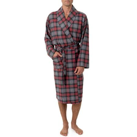 0abe692ac1 Fruit of the Loom Men s Flannel Shawl Collar Robe - Men Onesie
