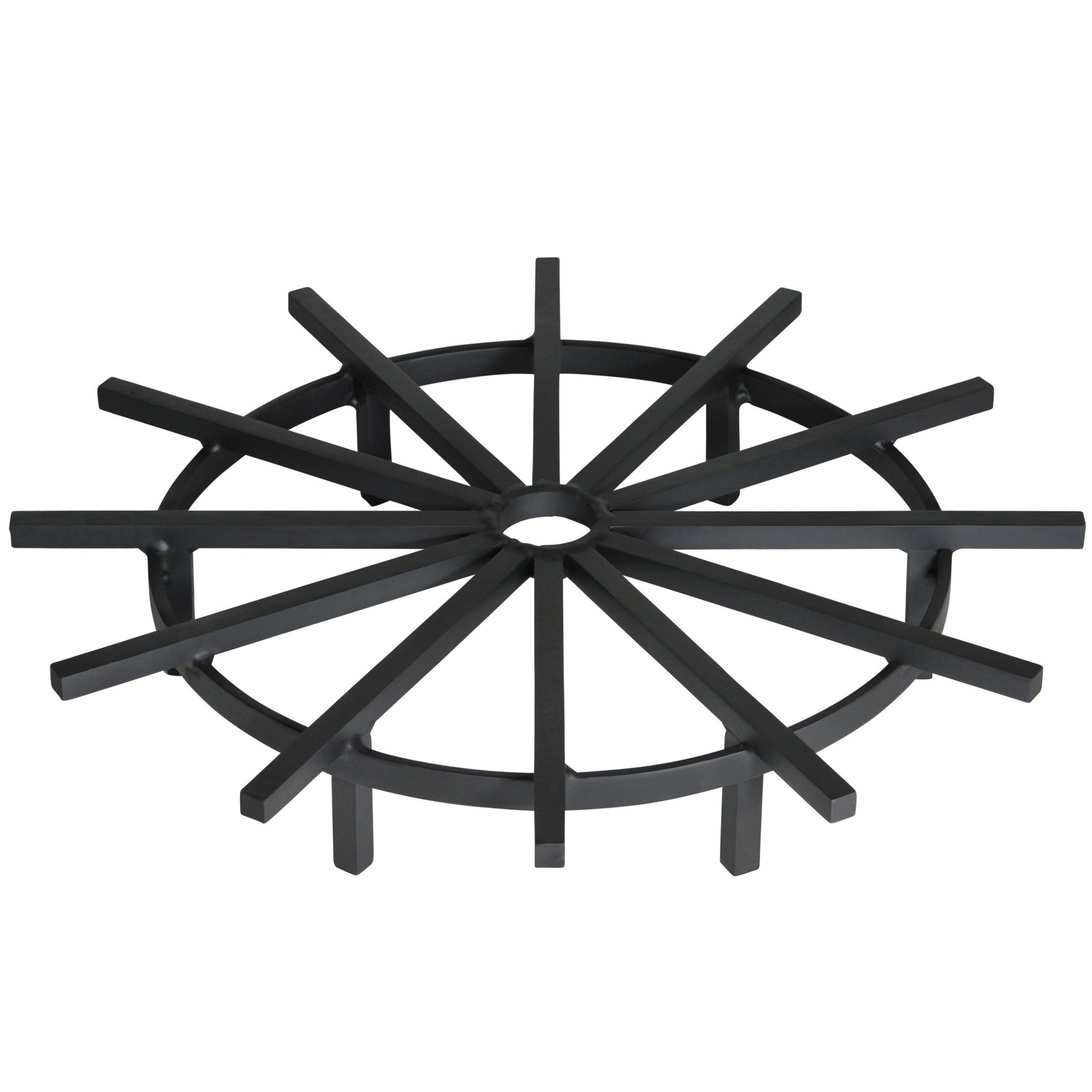 Heritage Products Super Heavy Duty 28 Inch Ship's Wheel Fire Pit Grate - Made in the USA
