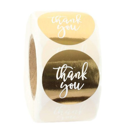 Koyal Wholesale Label Stickers Gold Foil Thank You Labels Roll, 1 5-inch  Stickers Round Circle, 500 Pack