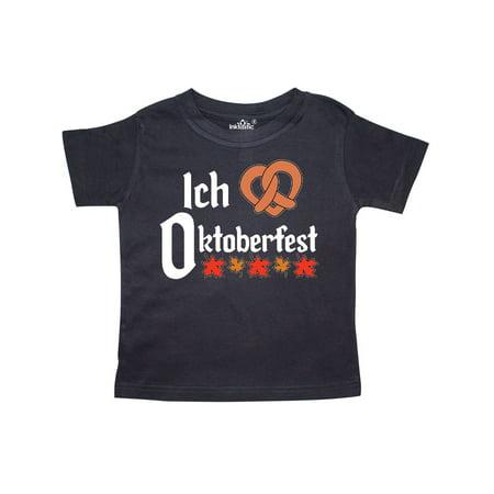 Ich Liebe - I Love Oktoberfest pretzel heart Toddler T-Shirt (Oktoberfest Girls)