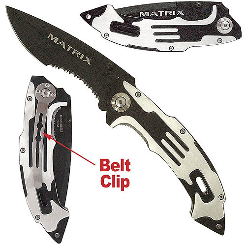 Whetstone Matrix Stainless Steel Folding Knife, Various Colors