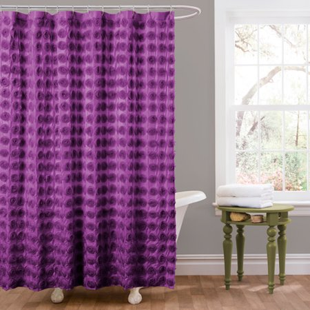 Essential Living Emma Purple Shower Curtain