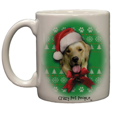 Dog Lovers Golden Retriever Ugly Sweater Christmas Design Ceramic Coffee Mug