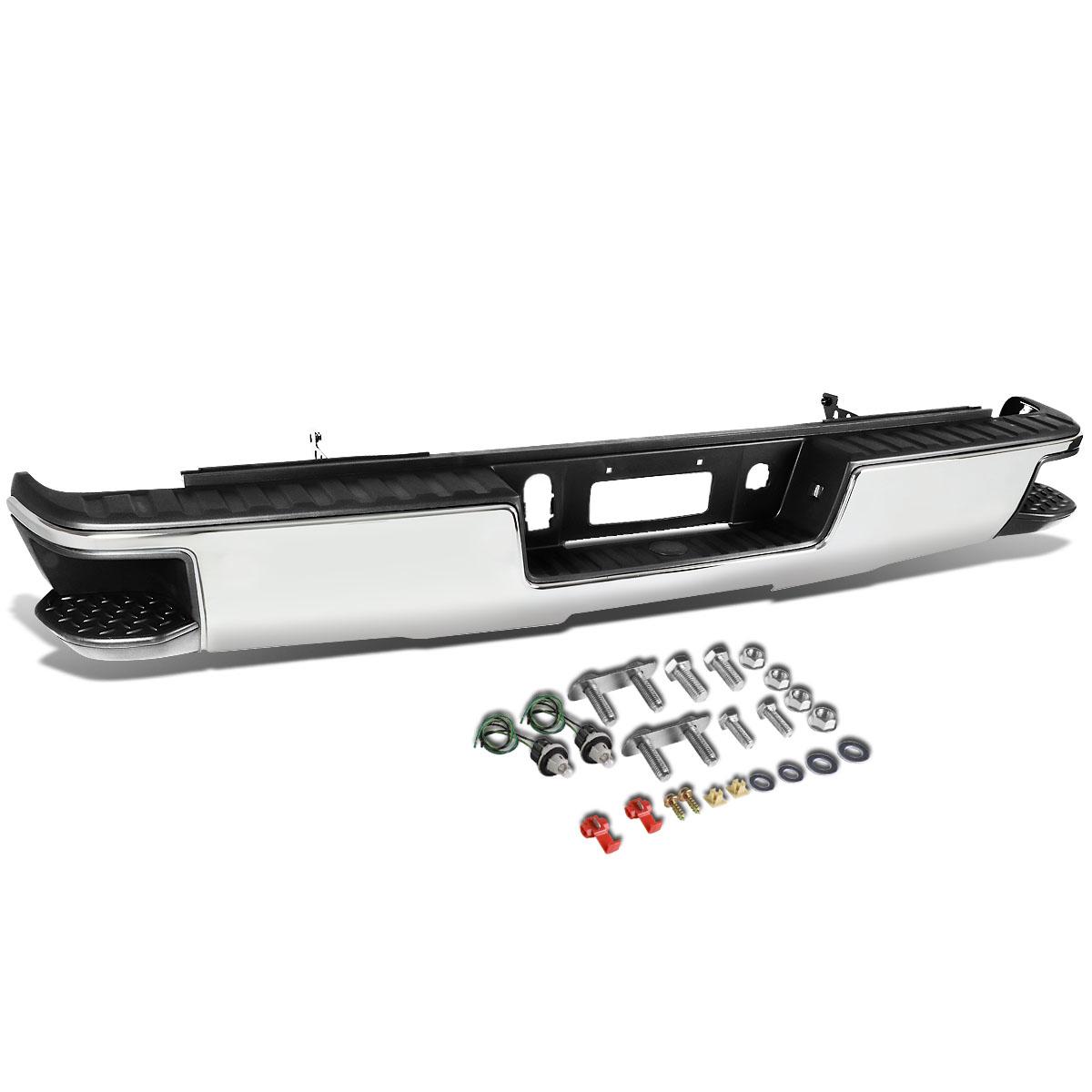 For 14-18 Chevy Silverado / GMC Sierra Chrome Rear Corner Step Bumper (No Park Distance Sensor Hole) 15 16 17