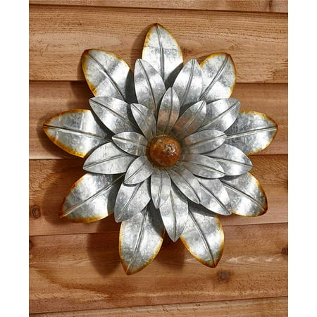 Water Wall Collection (The Lakeside Collection Extra Large Metal Wall Flower - Water)