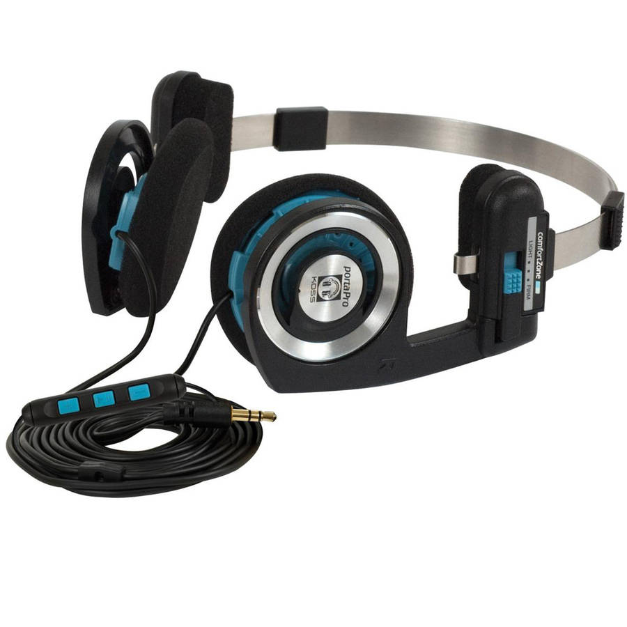 Koss Porta Pro KTC On-Ear Headphones with Koss Touch Control (KTC) Remote and Microphone Technology