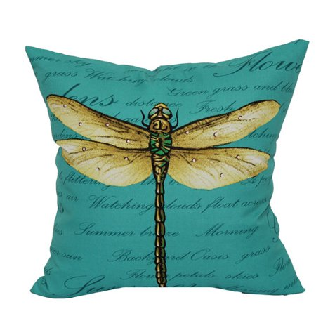 Mainstays Outdoor 16 Quot Dragonfly Toss Pillow Walmart Com