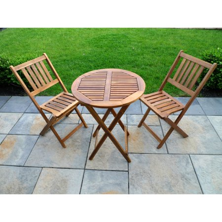 Northbeam 3 Piece Folding Patio Bistro Set - Walmart.com