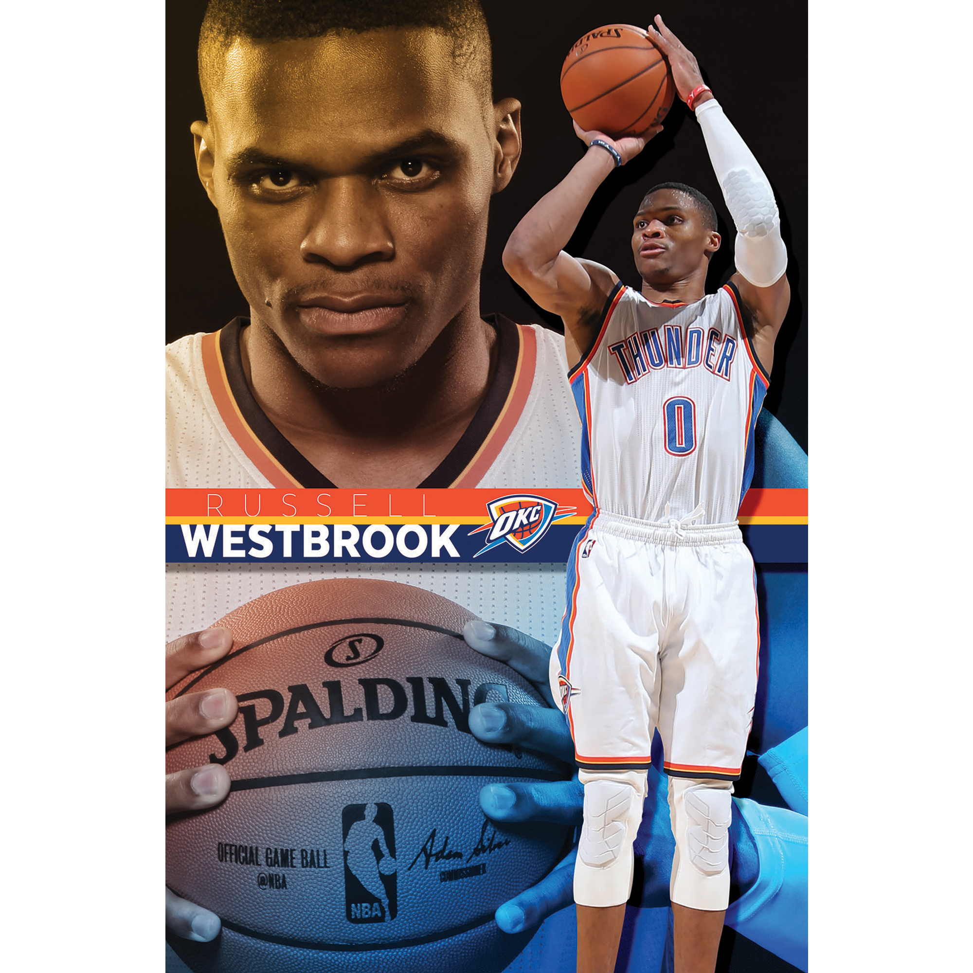 Russell Westbrook Oklahoma City Thunder 22'' x 34'' Player Poster - No Size