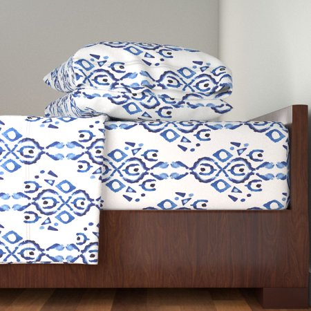Pottery Tribe Pattern Home Decor 100% Cotton Sateen Sheet Set by Roostery ()