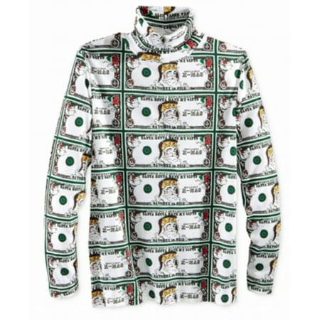 American Rag Cie New Green Mens Size Medium M Money Turtleneck Shirt