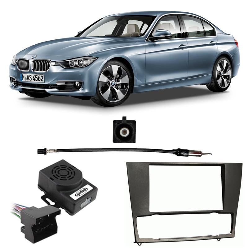 Fits BMW 3 Series 2006-2013 w/o NAV Double DIN Harness Radio Install Dash Kit