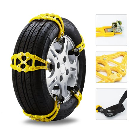 Universal Buckle Snow Tire Adjustable Anti-skid Chains Gear Clasp Wheel Chain - image 2 of 5