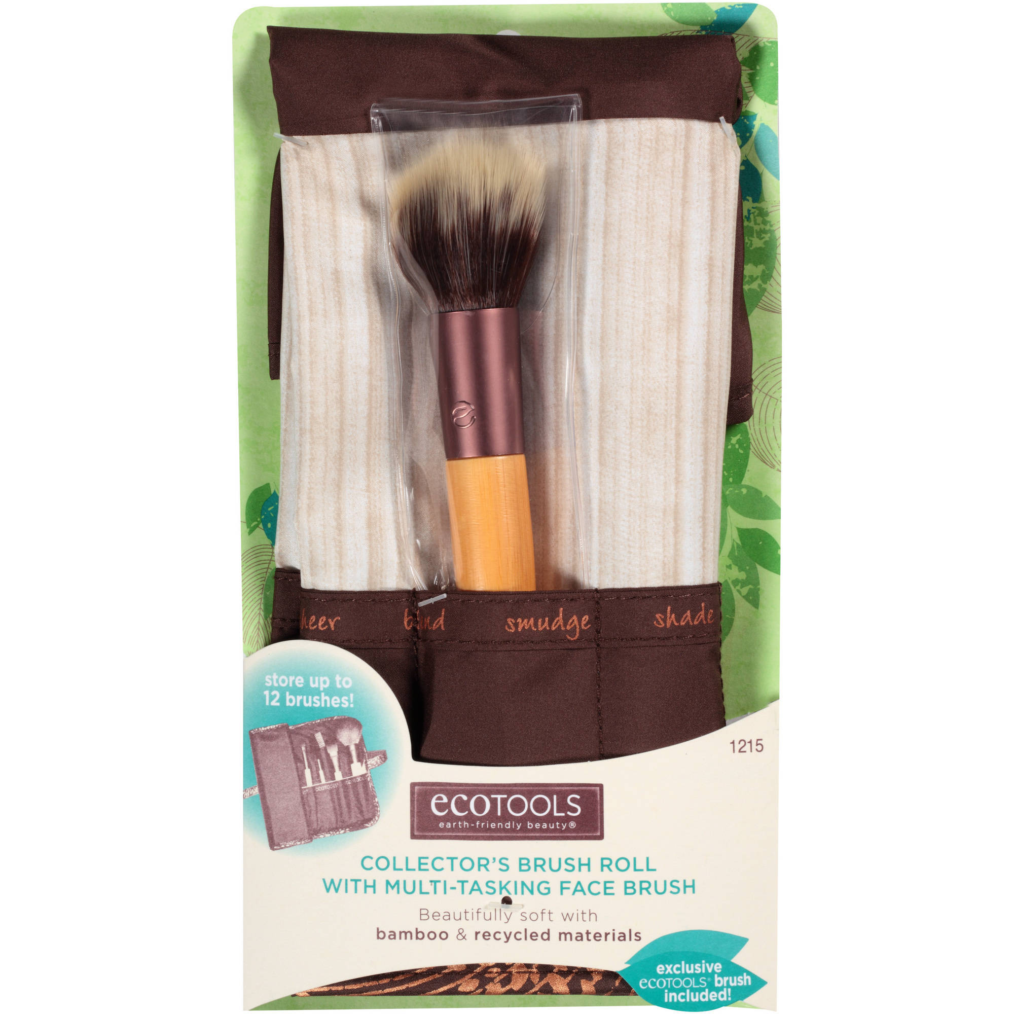 Ecotools Collector's Brush Roll with Multi-Tasking Face Brush, 2 pc