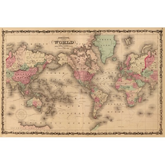Old world map poster poster print walmart old world map poster poster print gumiabroncs Images