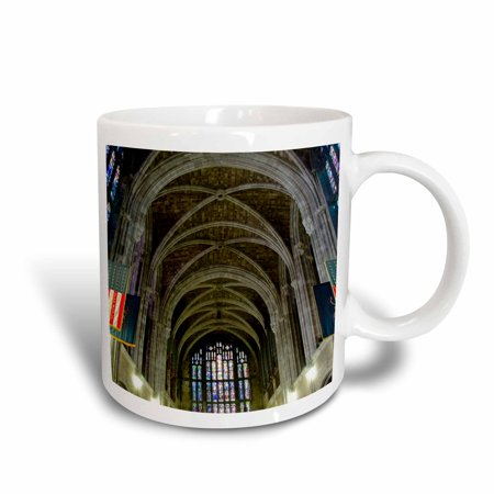 3dRose New York, West Point Academy. Army Military collage, Cadet Chapel, Ceramic Mug, 15-ounce