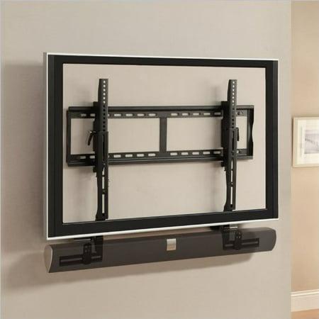 Atlantic Mounting Bracket For Speaker, Flat Panel Display – 15.40 Lb Load Capacity – Steel – Black (63607104)