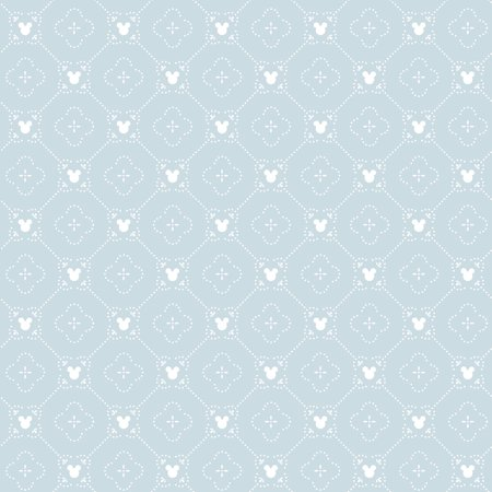 York Wallcoverings DI0978 Disney Mickey Mouse Argyle Wallpaper Blue