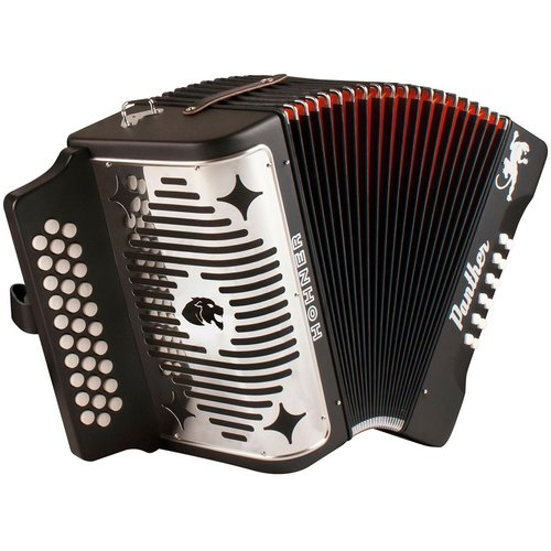 Hohner Panther 3-Row GCF Diatonic Accordion