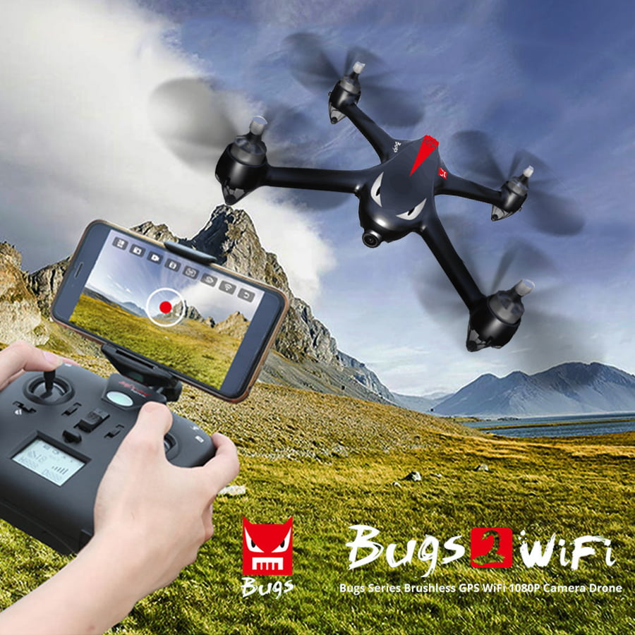 MJX B2W Bugs 2W Brushless 5G WiFi FPV RC Quadcopter RTF With 1080P HD Camera GPS,,Altitude Mode,One key to... by MJX