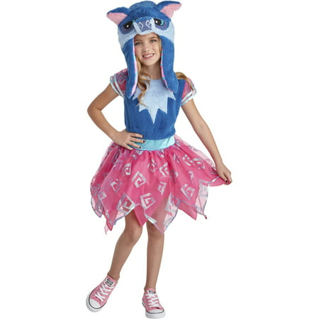 Animal Jam Happy Rowdy Wolf Girls Costume - Wolf Pack Costume