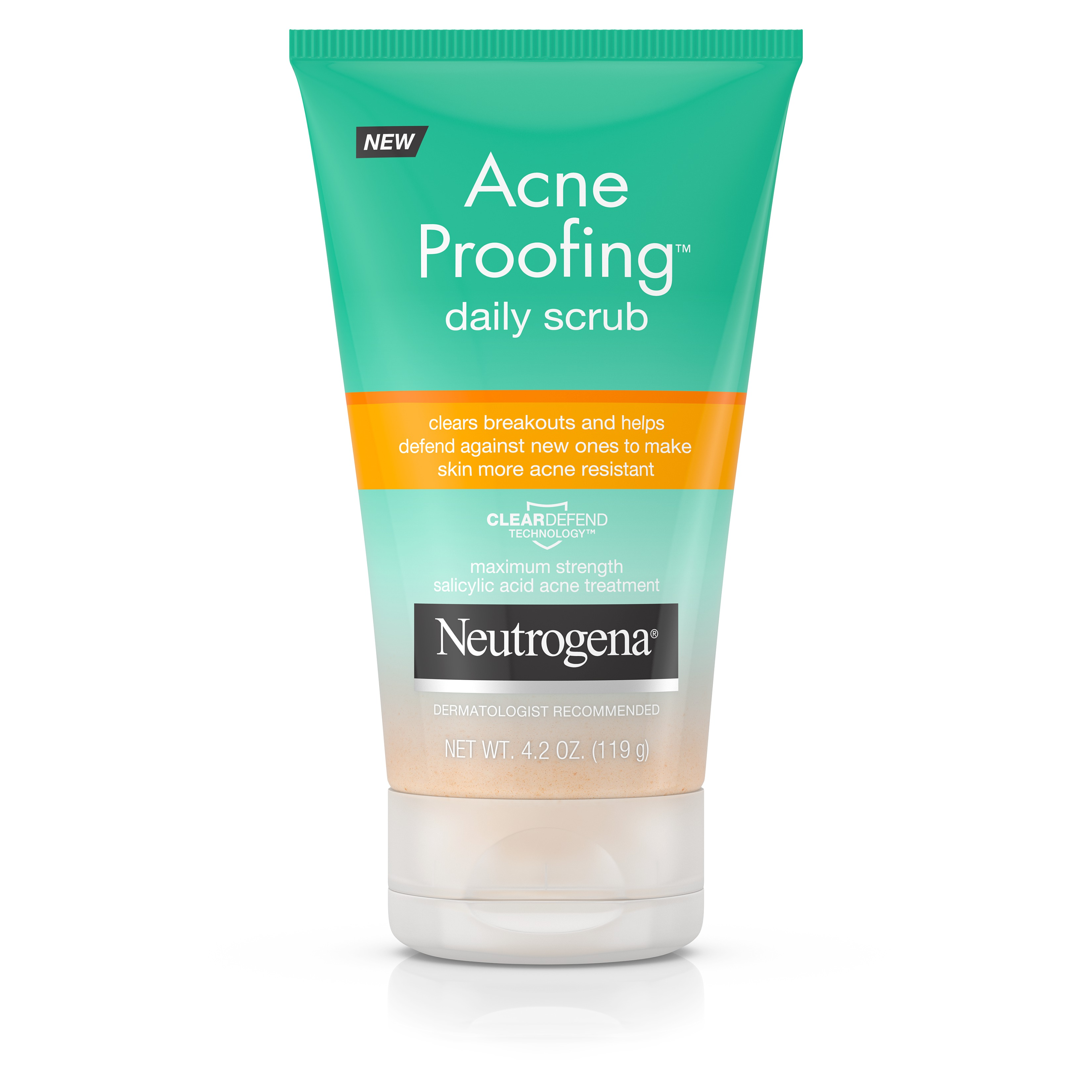 Neutrogena Acne Proofing Exfoliating Facial Scrub, 4.2 oz