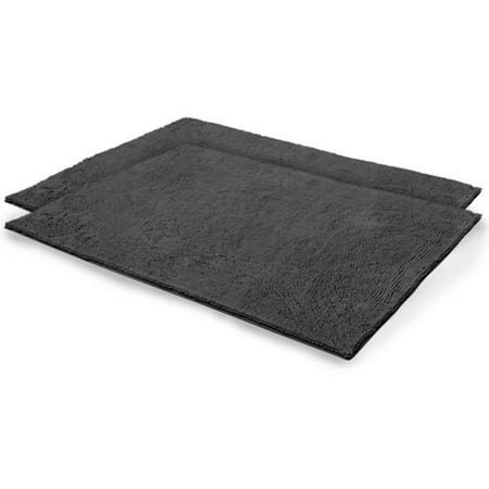 Chenille Plush Bath Mat Color: Gray