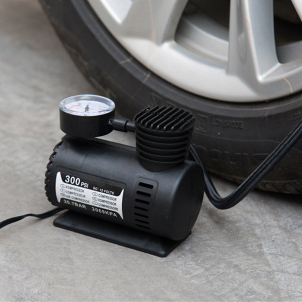 Voiture Mini /Électrique Gonfleur Pompe Portable Pneu Air Gonfleur 300PSI Auto Compresseur Pompe pour Voiture V/élo Moto Basketball