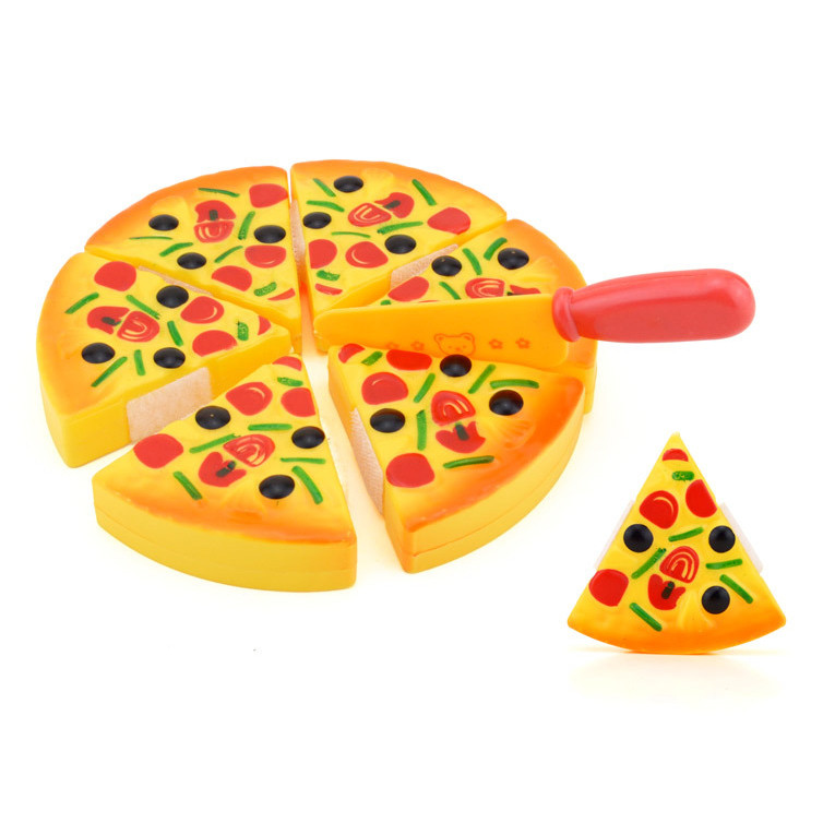 Womail Childrens Kids Pizza Slices Toppings Pretend Dinner Kitchen Play Food Toy Gift