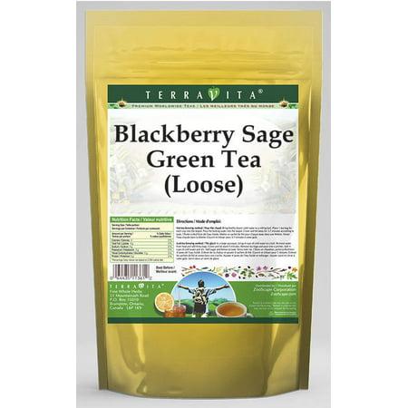 Blackberry Sage Green Tea (Loose) (8 oz, ZIN: - Blackberry Sage