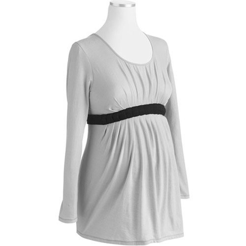 Maternity Pleated Babydoll Knit Tunic