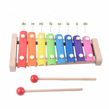 Kids Baby Natural Wooden Piano Educational Xylophone Musical Instrument Glockenspiel Toy Inspire Children's Talent Children Kids Baby Music Educational Toys Gift Hand Knock (Educational Children's Toys)