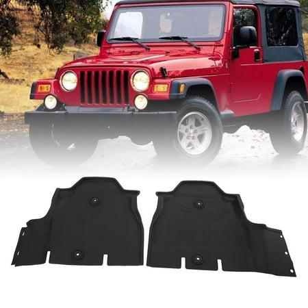Zerone 4pcs Car Floor Mats Floor Liner Front&Rear Dust All-weather Slush Mats for Jeep Wrangler JL, Rear Mat, Car Floor Carpet