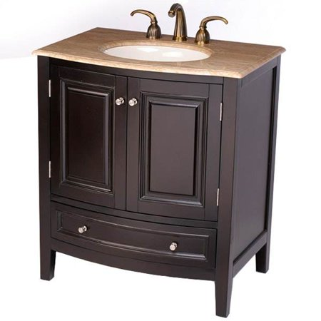 32 in naomi single sink bathroom vanity in espresso - Walmart bathroom vanities with sink ...