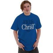 Jesus Short Sleeve T-Shirt Tees Tshirts Free In Christ Christian Religious
