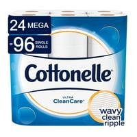 Cottonelle Ultra CleanCare Toilet paper, 24 Mega Rolls (= 96 Regular Rolls)