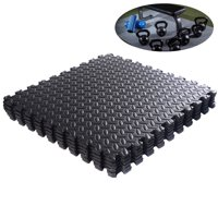 Ktaxon 54 Pieces Puzzle Exercise Mat with High Quality EVA Foam Interlocking Tiles,Gymnastics Mats for Home Gym Fitness Wotkout, Black