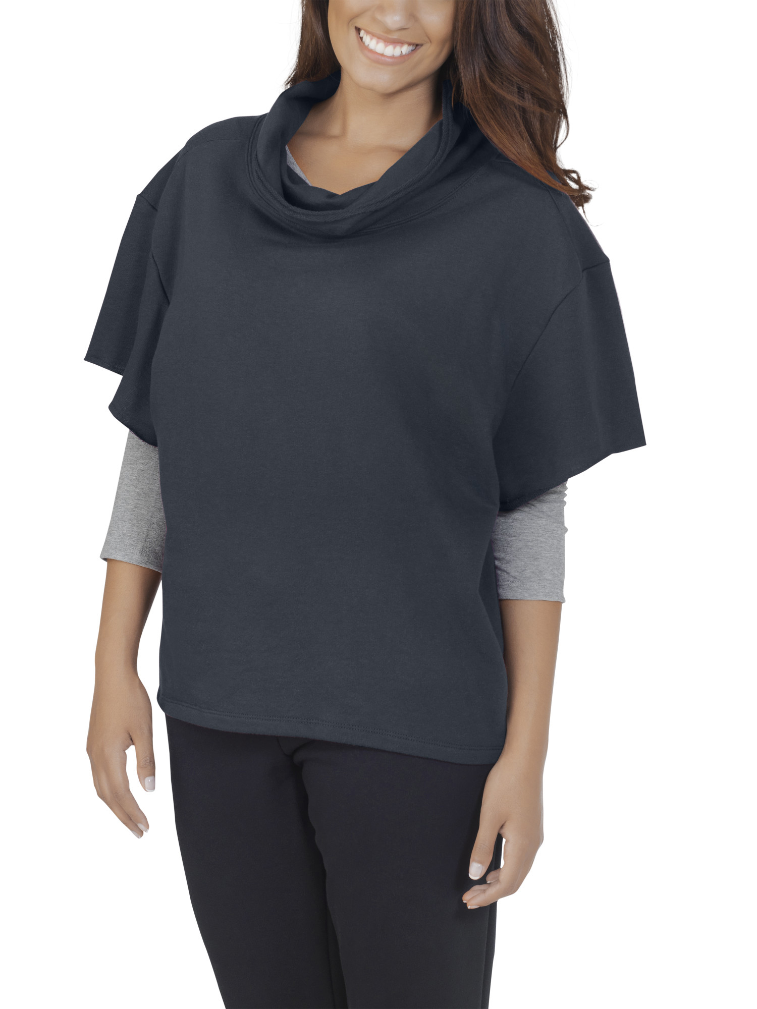 Women's Essentials French Terry Cowl Neck Pullover