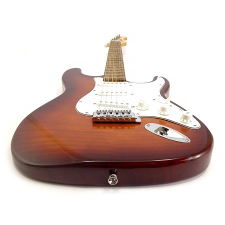 FLAME MAPLE - SUNBURST Tobacco EXOTIC WOOD - Custom Electric Guitar